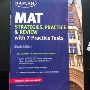 MAT Kaplan test review book NWOT